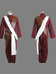 cheap -Inspired by Naruto Gaara Anime Cosplay Costumes Japanese Cosplay Suits Long Sleeve Leotard / Onesie / Breastplate For Men's