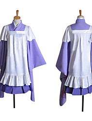 cheap -Inspired by Vocaloid Megurine Luka Video Game Cosplay Costumes Cosplay Suits Patchwork Long Sleeve Skirt Dress Headpiece Costumes