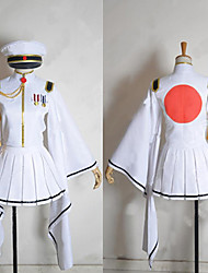 cheap -Inspired by Vocaloid Hatsune Miku Video Game Cosplay Costumes Cosplay Suits / Kimono Long Sleeve Coat Skirt Gloves Costumes