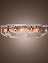 "cheap -SL® 100(39"") Crystal Flush Mount Lights Metal Chrome Modern Contemporary 110-120V / 220-240V / G4"