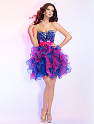 cheap -Prom / Cocktail Party / Homecoming / Sweet 16 Dress - Multi-color Plus Sizes / Petite Ball Gown Strapless / Sweetheart Short/MiniOrganza
