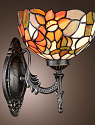 cheap -Tiffany Wall Light with 1 Light in Floral Patterned Shade