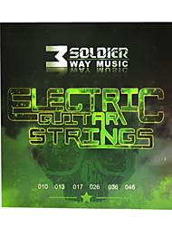 Недорогие -Солдат - (010-046) стали с покрытием Струны для электрогитары