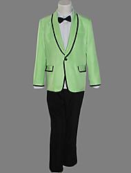 Недорогие -Gangnam стиле Psy динамического зеленый костюм Хеллоуин костюм (3 шт)