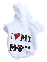 cheap -Dog Hoodie Winter Dog Clothes Costume Other Material Letter & Number Classic XS S M L