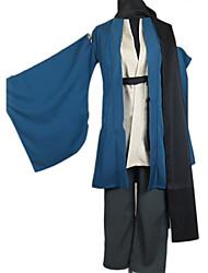 abordables -Inspiré par Petit-fils de Nurarihyon Kubinashi Manga Costumes de Cosplay Japonais Costumes Cosplay / Kimono Couleur Pleine Manches Longues Manteau / Pantalon / Ceinture Pour Homme
