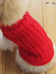 cheap -Cat Dog Sweater Dog Clothes Brown Red Blue Cotton Costume For Winter