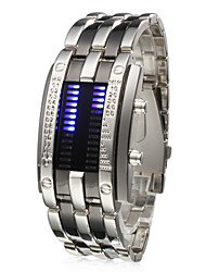 cheap -Men's Wrist Watch Unique Creative Watch Digital Stainless Steel Silver Calendar / date / day LED Digital Silver One Year Battery Life / SSUO CR2025