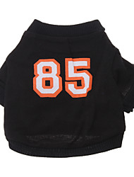 cheap -Dog Shirt / T-Shirt Jersey Dog Clothes Breathable Costume Cotton Letter & Number