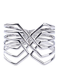 cheap -Women's Cuff Bracelet Ladies Silver Plated Bracelet Jewelry Silver For Party Daily Casual