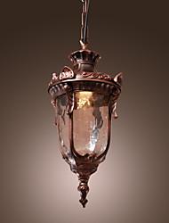 """Недорогие -1-ламповый 17 (7 """") мини-стиль подвесной светильник из стекла, фонарь бронза кантри / фонарь 110-120В / 220-240В"""