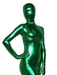 お買い得  -メタリック全身タイツ コスプレ衣装 グリーン スパンデックス 男女兼用