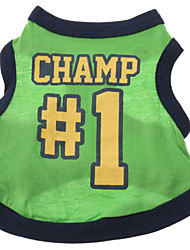 cheap -Dog Shirt / T-Shirt Jersey Dog Clothes Breathable Costume Cotton Letter & Number XS S M L