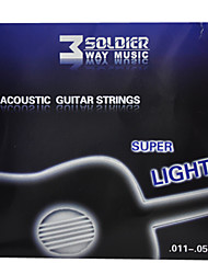 cheap -Soldier - (011-050) Coated Steel Acoustic Guitar Strings