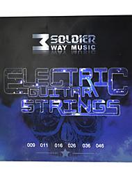 Недорогие -Солдат - (009-046) стали с покрытием Струны для электрогитары