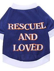 cheap -Dog Shirt / T-Shirt Dog Clothes Breathable Costume Cotton Letter & Number Casual / Daily XS S M L XL XXL