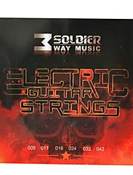 Недорогие -Солдат - (009-042) стали с покрытием Струны для электрогитары