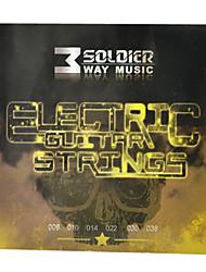 Недорогие -Солдат - (008-038) стали с покрытием Струны для электрогитары