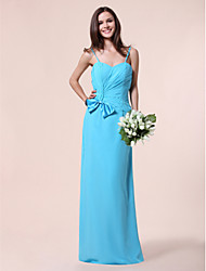 cheap -A-line Princess Sweetheart Floor-length Chiffon Bridesmaid Dress