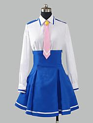 Недорогие -Вдохновлен PrettyCure Cure Happy Аниме Косплэй костюмы Японский Косплей Костюмы Школьная форма Пэчворк Длинный рукав Рубашка Юбки пояс Назначение Жен.