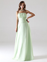 cheap -Ball Gown / A-Line Strapless Floor Length Chiffon Bridesmaid Dress with Ruched / Draping