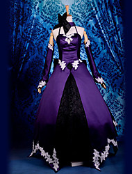 cheap -Inspired by Fate / Zero Lily Video Game Cosplay Costumes Cosplay Suits Patchwork Top Costumes
