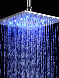 cheap -10 inch Brass Shower Head with Color Changing LED Light