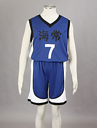 cheap -Inspired by Kuroko no Basket Kise Ryota Anime Cosplay Costumes Japanese Cosplay Suits Print Sleeveless Vest / Shorts For Men's