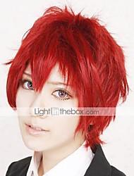 cheap -Naruto Sasori Cosplay Wigs Men's 12 inch Heat Resistant Fiber Red Anime