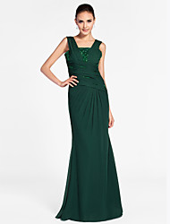 cheap -Sheath / Column Straps Floor Length Chiffon Evening Dress with Beading by TS Couture®