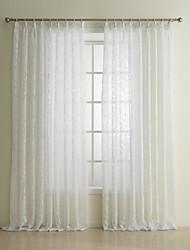 "cheap -Custom Made Sheer Sheer Curtains Shades Two Panels 2*(42W×84""L) / Living Room"