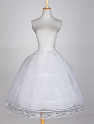 cheap -Wedding / Special Occasion / Party / Evening Slips Taffeta / Tulle / Cotton Glossy / Ball Gown Slip with White Bow / Lace-trimmed bottom