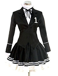 cheap -Inspired by Vocaloid Hatsune Miku Video Game Cosplay Costumes Cosplay Suits / Dresses Solid Colored Long Sleeve Cravat Coat Shirt Costumes