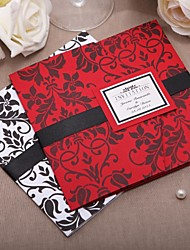 """cheap -Wrap & Pocket Wedding Invitations Invitation Cards Classic Style Card Paper 6""""×6"""" (15*15cm) Ribbons"""