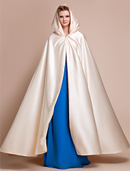 cheap -Capes Satin Wedding / Party Evening Wedding  Wraps / Hoods & Ponchos With Draping / Solid