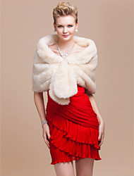 cheap -Faux Fur Wedding / Party Evening Wedding  Wraps / Fur Wraps With Shrugs