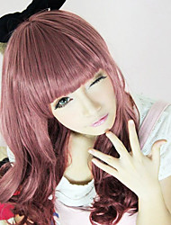 cheap -Cosplay Wigs Women's 26 inch Heat Resistant Fiber Red Red Anime