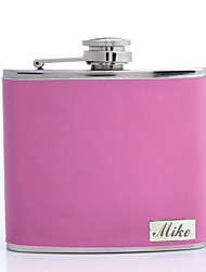 cheap -Stainless Steel / Leatherette Hip Flasks Groom / Groomsman / Parents Wedding / Anniversary / Birthday