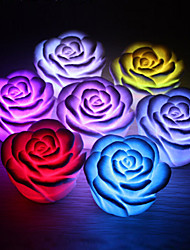 cheap -1pc Rose Flower LED Light Night Changing 7 Colors Romantic Candle Light Lamp