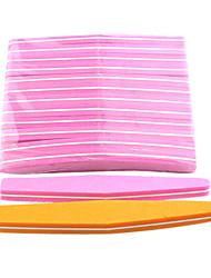 cheap -10pcs sponge nail files diamond assorted colors