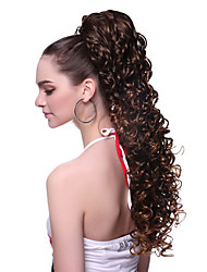 cheap -Ponytails Wavy Synthetic Hair 100% kanekalon hair 20 inch Hair Extension Clip In / On