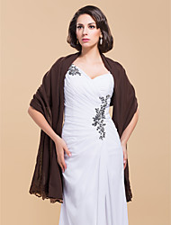 cheap -Elegant Chiffon With Lace Wedding/Evening Shawl (More Colors)