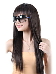 cheap -Synthetic Wig Straight Straight Wig Synthetic Hair 9 inch Women's Black