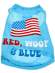 cheap -Dog Shirt / T-Shirt Puppy Clothes American / USA National Flag Dog Clothes Puppy Clothes Dog Outfits Costume for Girl and Boy Dog Cotton XS S M L