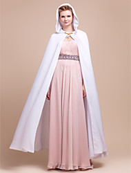 cheap -Chiffon Wedding / Party Evening Wedding  Wraps / Hoods & Ponchos With Capes