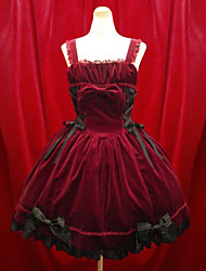 cheap -Girls' Gothic Lolita Aristocrat Lolita Dress Black Red Short Length Dress Lolita Accessories / Gothic Lolita Dress