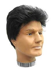 cheap -Synthetic Wig Straight Kardashian Style Wig Black#1B Synthetic Hair 9 inch Men's Black Wig Short