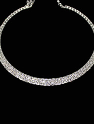 cheap -Women's Crystal Choker Necklace Tennis Chain Ladies Crystal Rhinestone Alloy Necklace Jewelry For Party