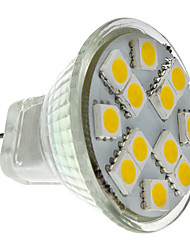 cheap -2 W LED Spotlight 160 lm GU4 MR11 12 LED Beads SMD 5050 Warm White 12 V