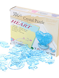 cheap -Heart 3D Crystal Puzzle Valentine's Day Gift (46pcs, Model:9001, Random Color)